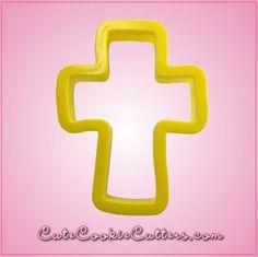 """3.5"""" x 2.75"""" Yellow Cross Cookie Cutter"""