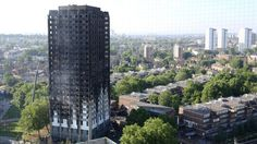 """Heartbreaking photo appears to show Grenfell Tower residents """"home again"""" during eerie full moon backdrop Police Activities, Kensington And Chelsea, Tower Block, Home Again, High Rise Building, Fire Safety, Willis Tower, The Guardian, Cladding"""