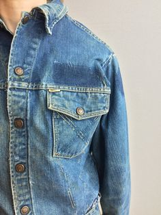 Grande Yank indossato giacca di jeans con evidenti di MidNorthMerc