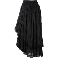 RAXEVSKY LOELA Black Gypsy-style Skirt ($39) found on Polyvore featuring women's fashion, skirts, bottoms, long skirts, embroidered maxi skirt, gypsy skirt, drawstring maxi skirt, ankle length skirt and gypsy maxi skirt
