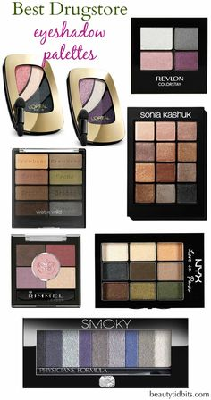 Best drugstore eyeshadow palettes via @beautytidbits