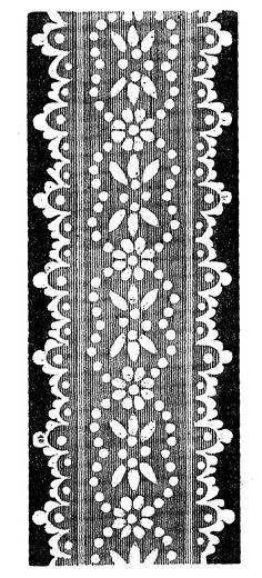 Antique Images: Free Digital Image Transfer of Vintage Lace Design for Border