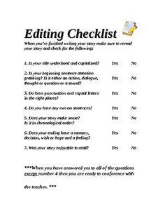 Essay editing checklist quotes