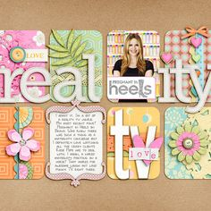 Love the design and the colors!...could also use more photos on this scrapbook layout.