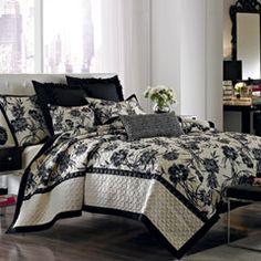 onyx floral quilt enjoy the modern ageless aesthetic of nicole miller bedding at with one of the most designer names around