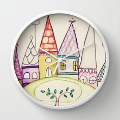 Once Upon A Time  Wall Clock - erin darcy design