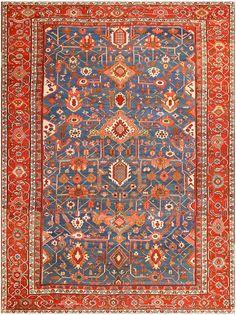 Antique Persian Heriz Serapi Rug #48006 Main Image - By Nazmiyal