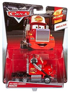 Disney Pixar Cars Oversized Car Mack Semi Truck Pit Version with Headset