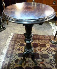 ANTIQUE Victorian Circular SIDE TABLE