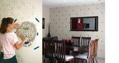 Como pintar y decorar paredes a 2 tonos con pinturas metálicas