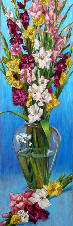 Gladiolus painted in oil - Portraits and Fine Art by Nancy Tilles