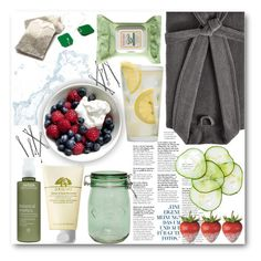 """""""Pamper Yourself, You Need It"""" by xoxomaddiegirl ❤ liked on Polyvore featuring beauty, Kassatex, Martha Stewart, Burt's Bees, Kilner, Origins and Aveda"""