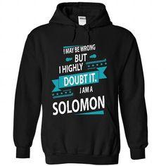 SOLOMON - #pullover hoodie #hoodie ideas. ADD TO CART => https://www.sunfrog.com/No-Category/SOLOMON-1242-Black-26447524-Hoodie.html?68278
