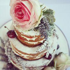Naked wedding cake www.janerosecakes.com
