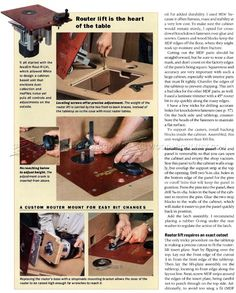 Ultimate Router Table Plans - Router