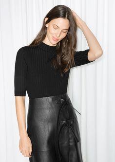 & Other Stories image 2 of Merino Wool Top  in Black