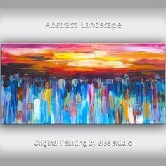 Abstract painting Modern simplicity art Large by elsestudio, $358.00