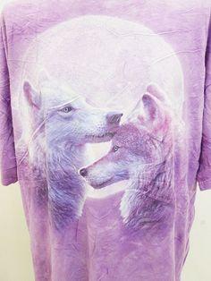 Vintage Wolf Pop Art Animal Print Nature T-Shirt 3XL