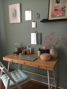 Lillasen desk IKEA - my new dresser became vanity desk