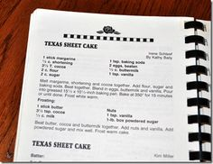 Grandma's Texas Sheet Cake Recipe