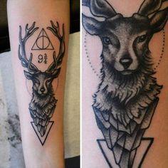 Beautiful harry potter tattoo