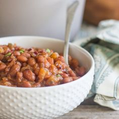 My Sweet and Spicy BBQ Baked Beans are the perfect side for summertime grilling and chilling!
