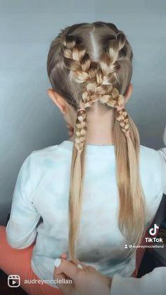Easy Little Girl Hairstyles, Girls Hairdos, Kids Braided Hairstyles, Cute Hairstyles For Kids, Baby Girl Hairstyles, Easy Hairstyles For Long Hair, Braids For Little Girls, Easy Toddler Hairstyles, Girls School Hairstyles