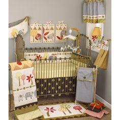 Cotton Tale Elephant Brigade 8-piece Crib Bedding Set