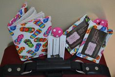 travel sets, 2 luggage tags, bookmark and passport cover