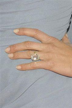 Closeup of jennifer aniston39s incredible rose cut for Jenn im wedding ring