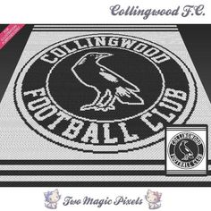 Collingwood FC C2C crochet Graph | Craftsy