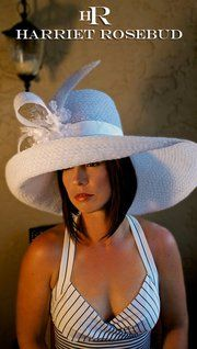 sheer delight! A braid Horsehair hat perfect for wedding and derby!
