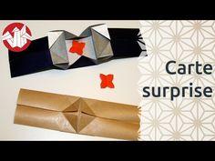 Origami - Carte surprise - Surprise Card [Senbazuru] - YouTube