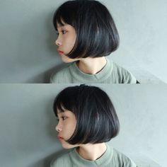 重めだけど髪が柔らかく自由に、動くナチュラルボブ。 毛先にパーマをかけても⭕️ カットだけで髪質が変わったように。
