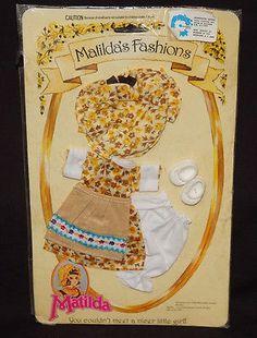 ABITO MATILDA'S FASHIONS MATILDA DOLL CLOTHE DRESS KLEID VINTAGE OUTFIT PEDIGREE    eBay