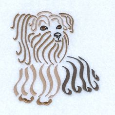 Swirly Yorkshire Terrier - 5x7 | What's New | Machine Embroidery Designs | SWAKembroidery.com Starbird Stock Designs