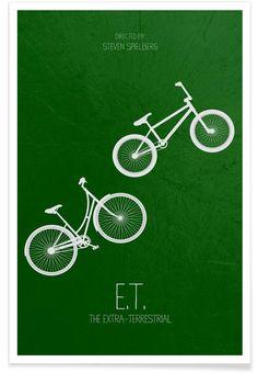 E.T. en Affiche premium par Calm The Ham   JUNIQE