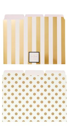 Cute folders by kate spade new york in stripes + polka dots!
