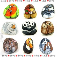 Love is... being together. Hand painted stones by Ernestina Gallina, Pietrevive. https://www.facebook.com/pietrevive.ernestina