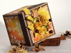 Autumn birthday #exploding box