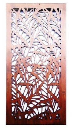 Bamboo Design Laser Cut Metal Art for Garden Wall from