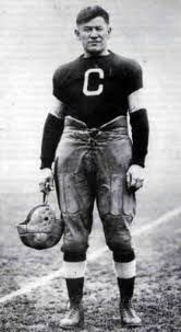 Jim Thorpe All-American gold medalist in pentathlon & decathlon. He played football, baseball & basketball professionally. Native American.  Had Olympic medals taken away.