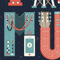Face The Music 2013 by Andrew Fairclough, via Behance