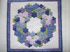 Hexagon wreath quilt package, Marries Atelier