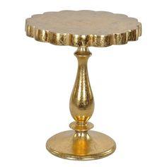 Lyric Occasional Gold Leaf Table
