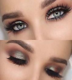 Teal Green Smokey Eye