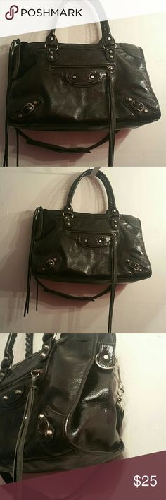 Black Patent Purse Black Patent Purse with Shoulder Bags