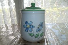 Daisy Patchwork Cookie Jar Nelson McCoy Lancaster Colony Company Preowned
