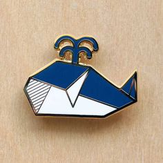 Origami Whale Brooch