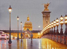 Glowing lights in watercolor: Thierry Duval